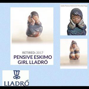 ❤️Two Lladro Pensive Boy & Girl